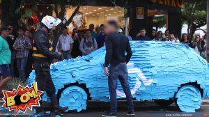 Klebezettel gegen Flachparker auf Behindertenparkplatz