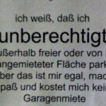 Falschparken Zettel Tiefergarage in München