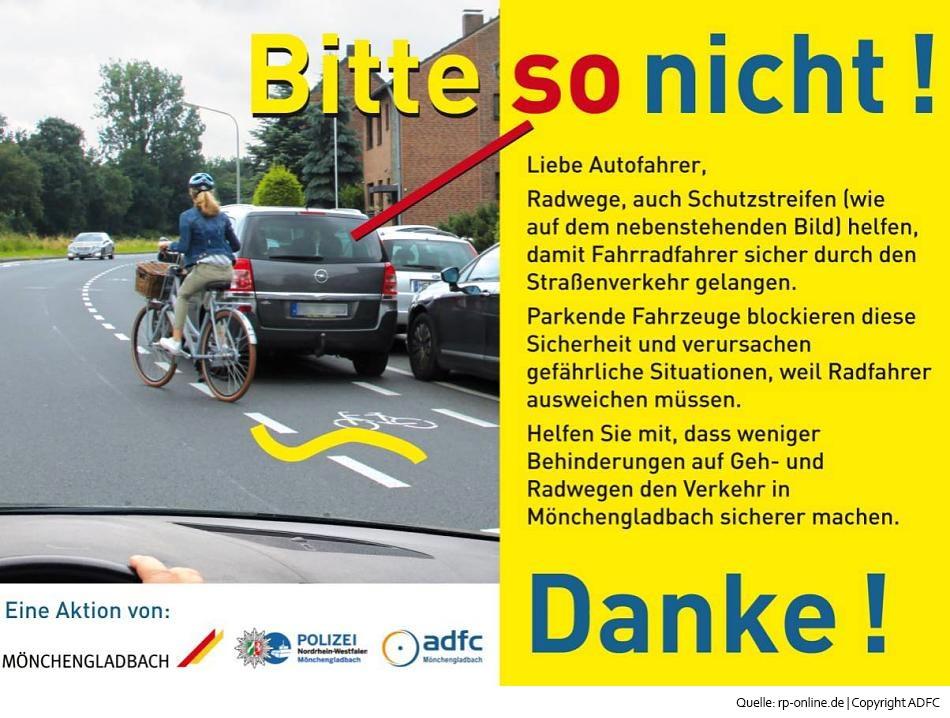 Falschparker auf Radwegen