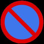 Parkverbot Verkehrsschild ohne Pfeil