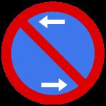 Parkverbot Verkehrsschild Pfeil links und rechts